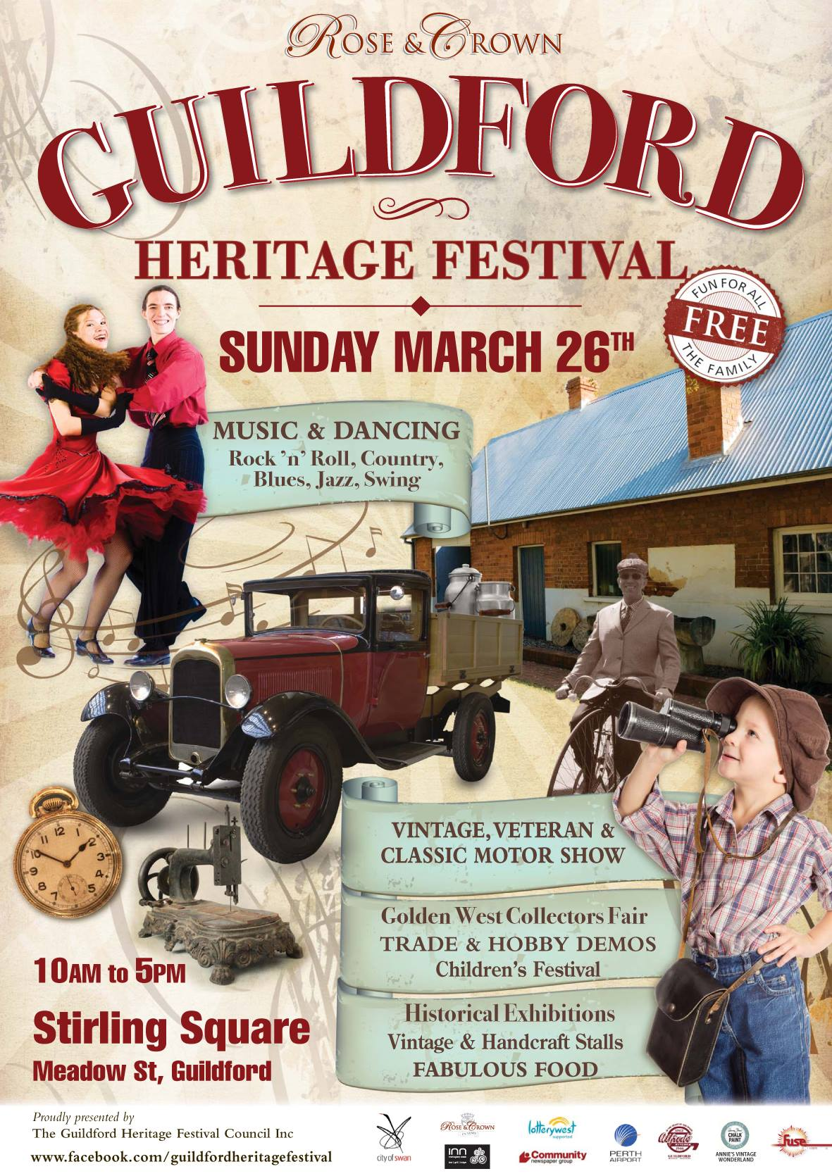Guildford Heritage Festival @ Stirling Square, Guildford | Guildford | Western Australia | Australia